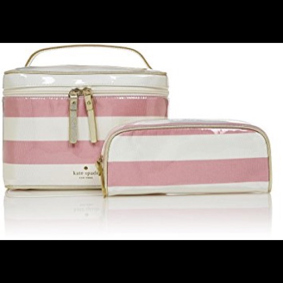 new product 672a2 f4148 KSNY Java Place Large Natalie Cosmetic Case- Rose